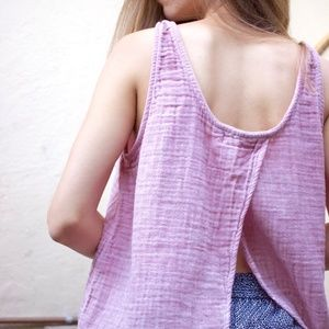 Cloth & Stone open back cotton tank top